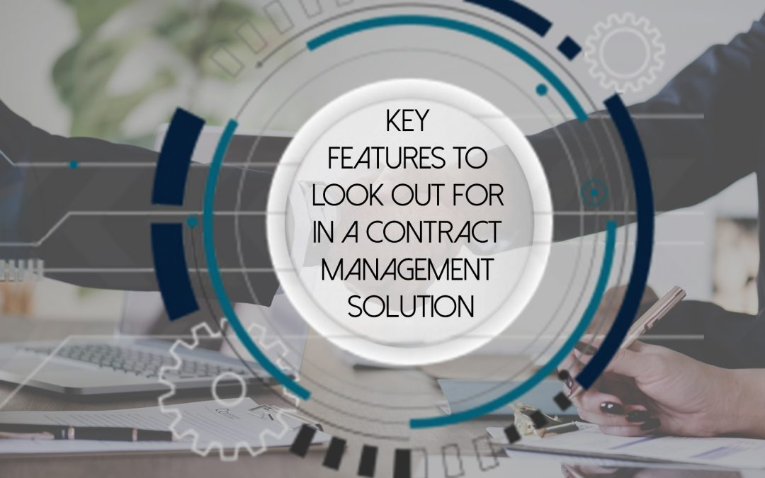 Key aspects to consider before procuring a contract management solution