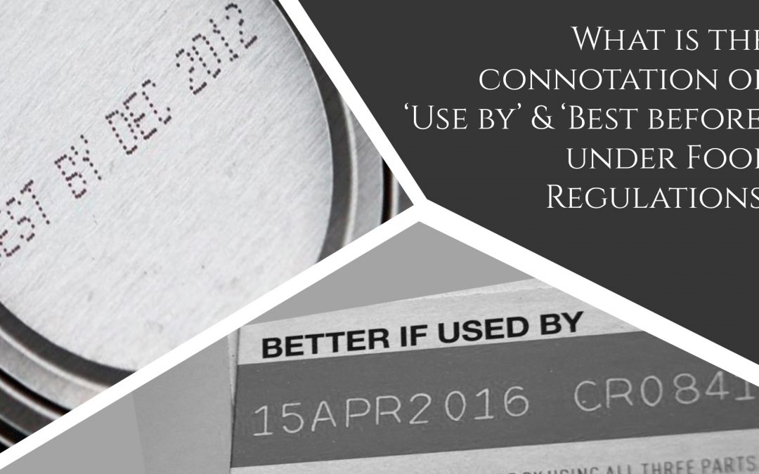 What is the connotation of 'Use by' and 'Best before' under Food Regulations?